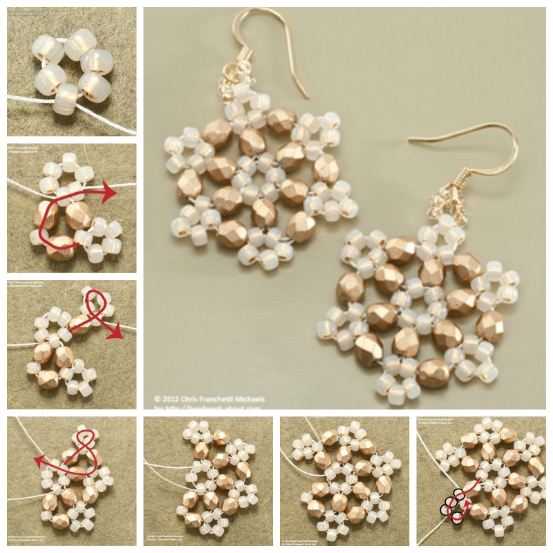 how to make earrings out of beads