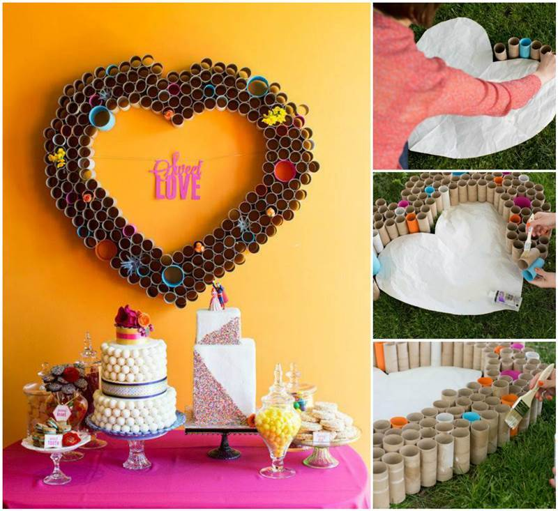 Creative ideas diy beautiful paper heart wall art for Heart decorations home