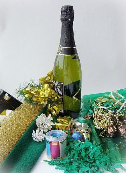 Creative Ideas Diy Decorated Holiday Champagne Bottle