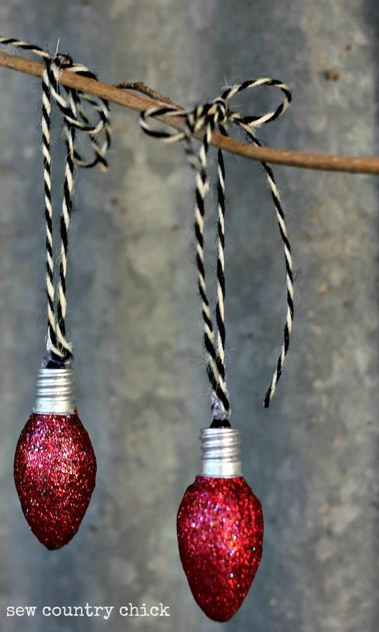 Creative Ideas - DIY Light Bulb Christmas Ornaments --> Night Light Bulb Ornaments