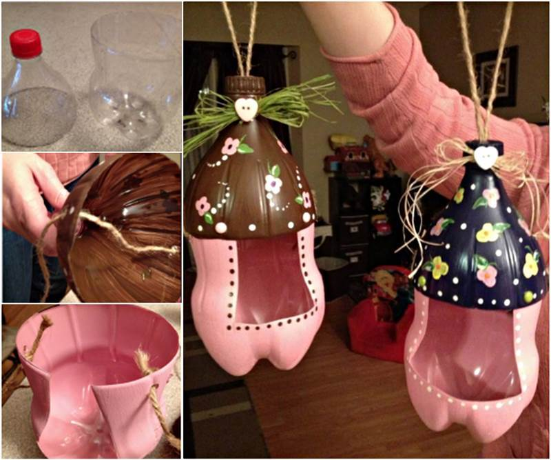 Diy adorable piglet planter from plastic bottles for Diy plastic bottle