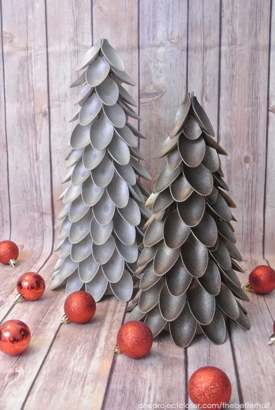 Creative Ideas - DIY Plastic Spoon Christmas Trees