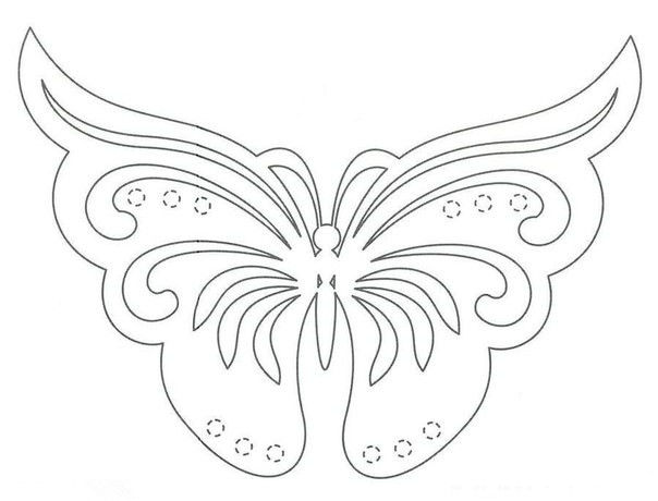 Трафареты бабочки из бумаги