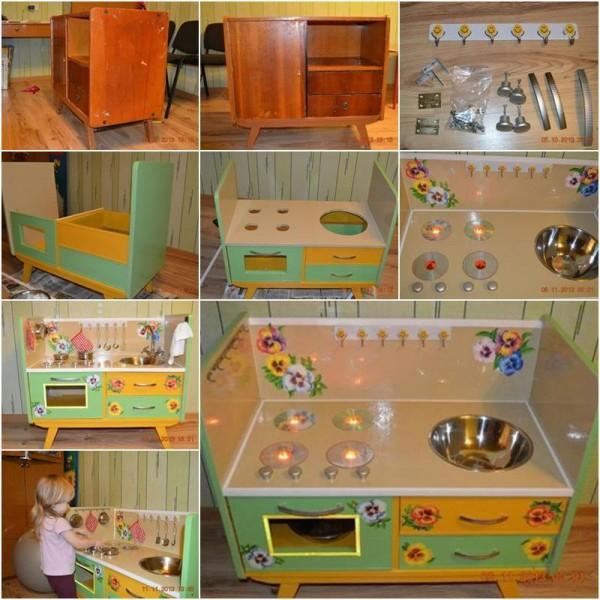 Детская кухня для детского сада своими руками 15