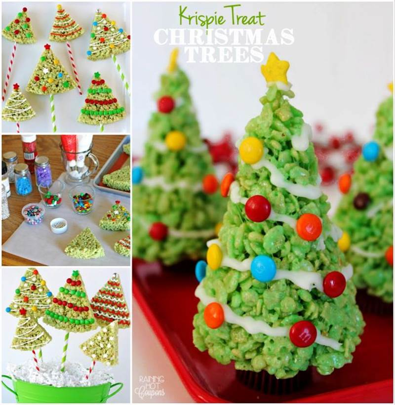 Creative Ideas - DIY Rice Krispie Treat Christmas Tree