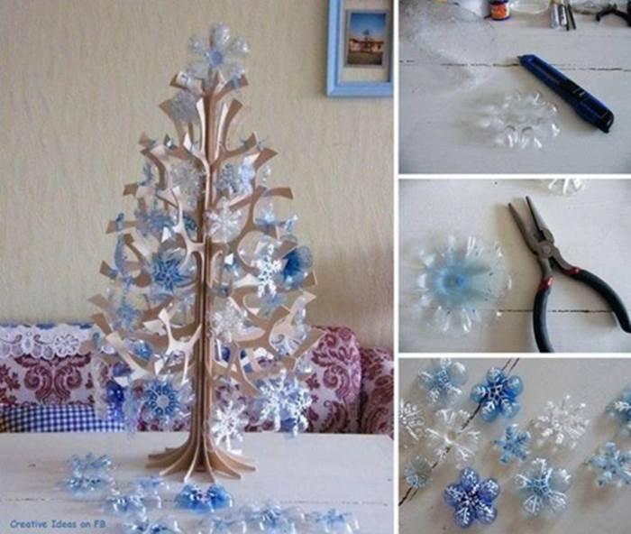 ... Cute Yarn Winter Hat Ornaments. Creative Ideas - DIY Snowflake Christmas  Tree Ornaments from Plastic Bottles 96f69509caa9