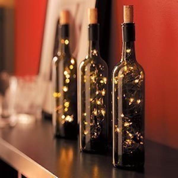 Creative ideas diy stunning wine bottle light - Creative ideas to reuse wine bottles ...