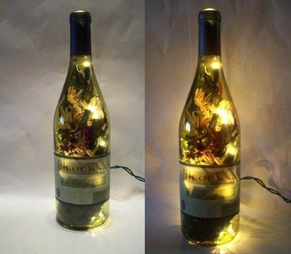 Creative ideas diy stunning wine bottle light diy - Creative ideas to reuse wine bottles ...