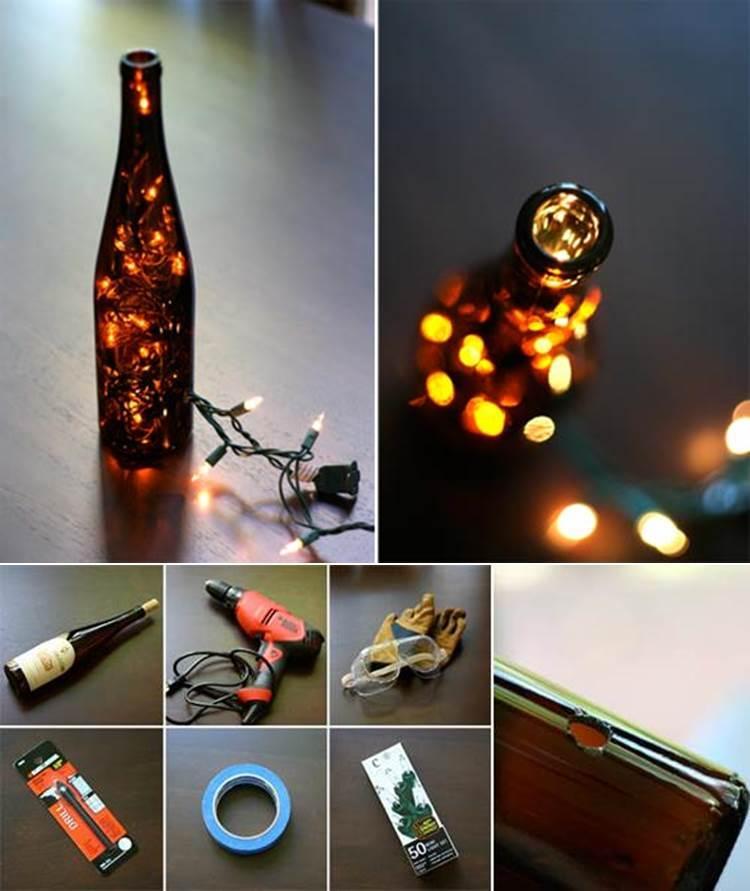 DIY Stunning Wine Bottle Light
