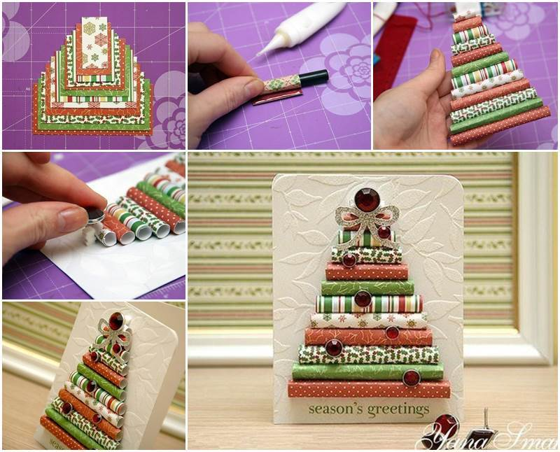 Creative ideas diy wrapping paper christmas tree for Creative ideas with paper