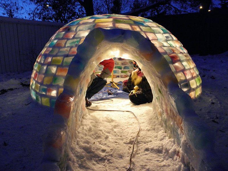 Creative Ideas - How to Build a Rainbow Igloo Using Milk Cartons 12