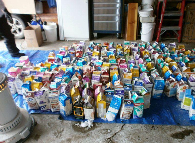 Creative Ideas - How to Build a Rainbow Igloo Using Milk Cartons 3