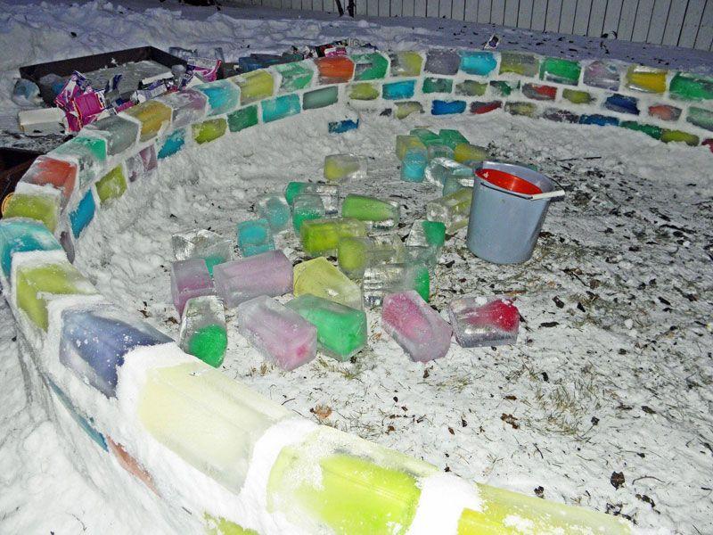 Creative Ideas - How to Build a Rainbow Igloo Using Milk Cartons 4