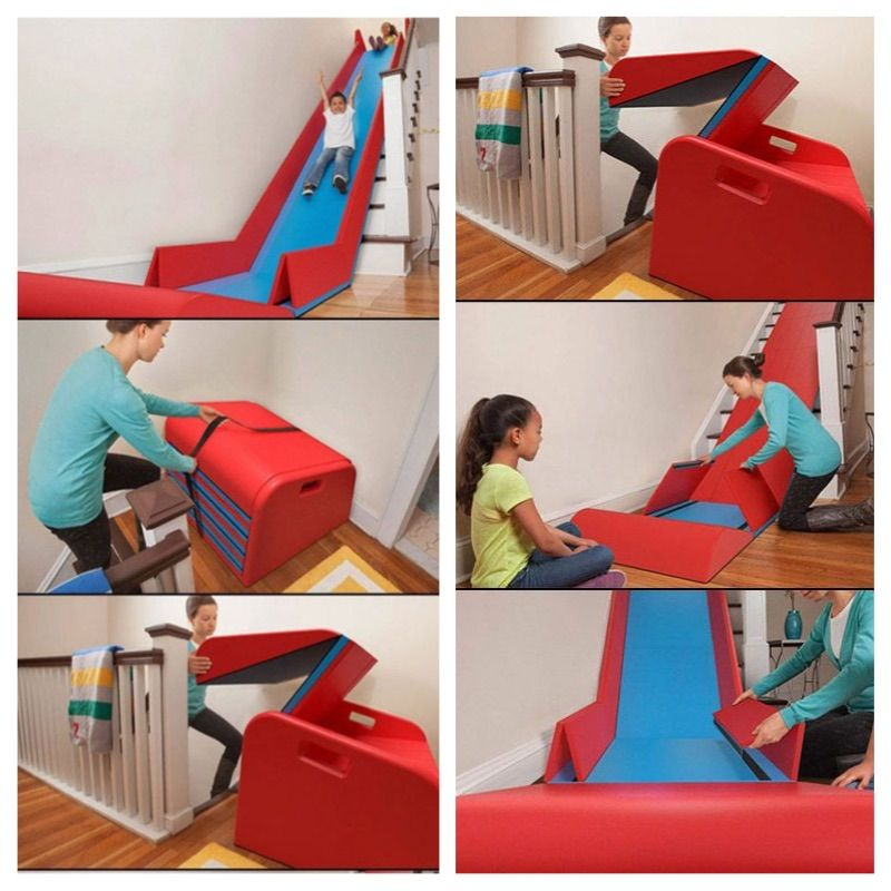 Creative Ideas Sliderider The Foldable Indoor Stairs Slide