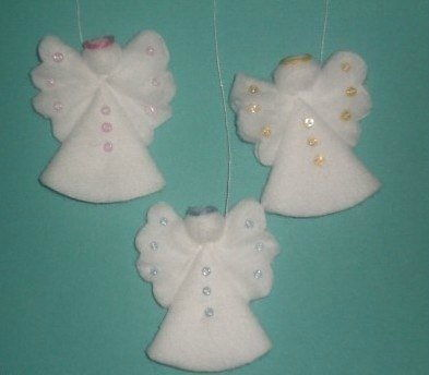 Creative Ideas – DIY Cotton Pad Angel Christmas Ornaments 5