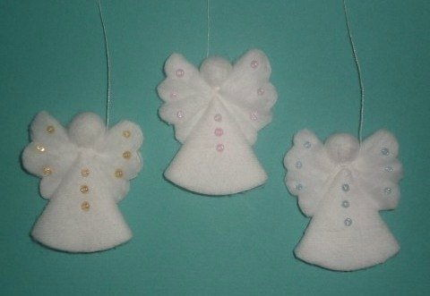 Creative Ideas – DIY Cotton Pad Angel Christmas Ornaments 6