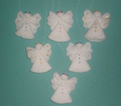 Creative Ideas – DIY Cotton Pad Angel Christmas Ornaments 7