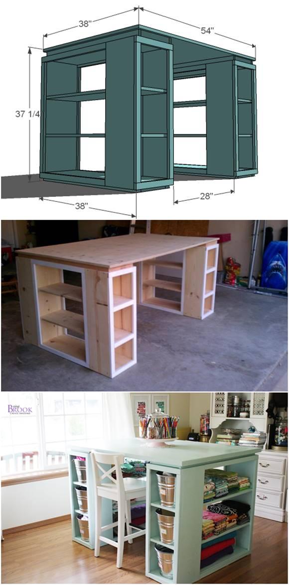 Creative Ideas – DIY Modern Craft Table