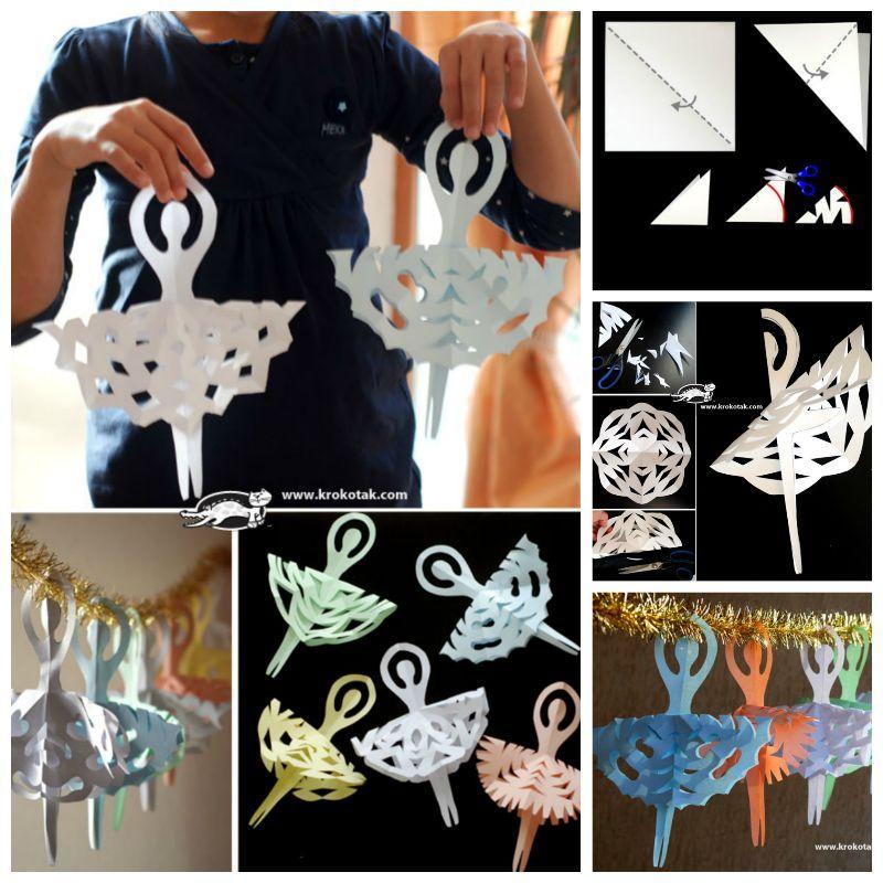 Creative Ideas - DIY Adorable Snowflake Ballerinas
