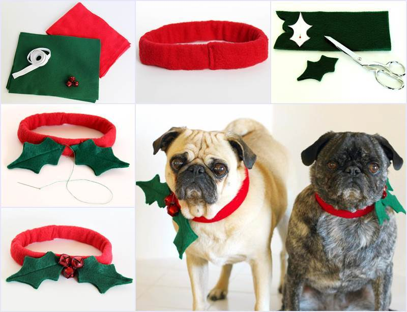 Creative Ideas - DIY Christmas Dog Collar