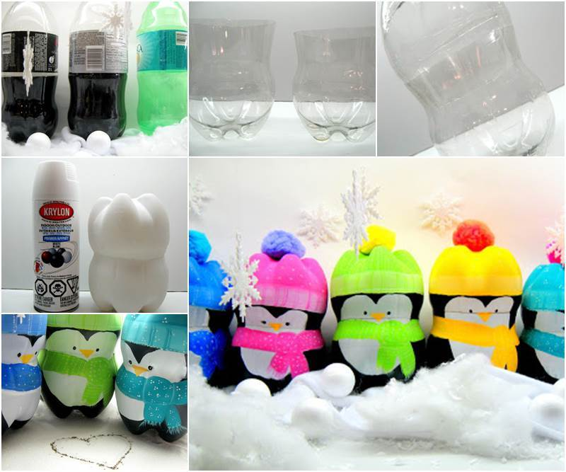 Creative ideas diy cute penguins from plastic bottles - Diy projects using plastic bottles ...