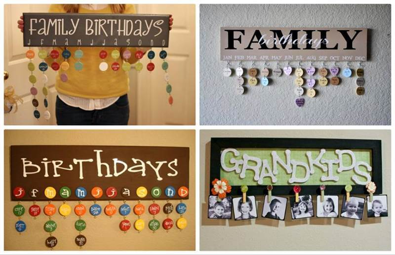 Ideas - DIY Hanging Birthday Reminder Calendar Board