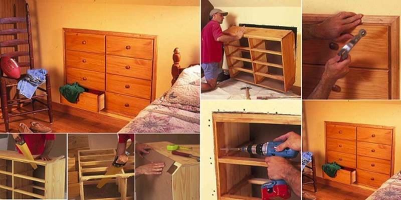 creative ideas - diy how to install knee-wall storage