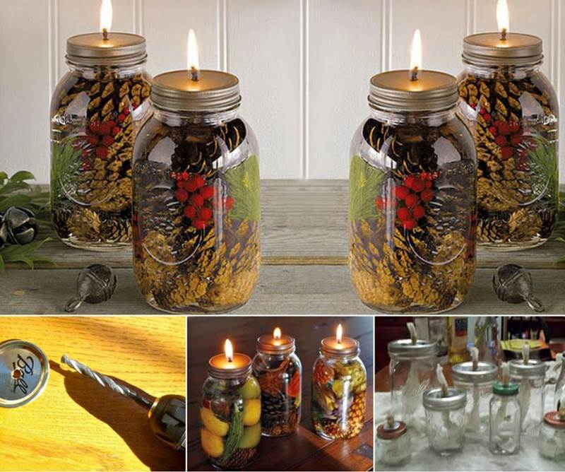 Creative Ideas Diy Mason Jar Oil Candles