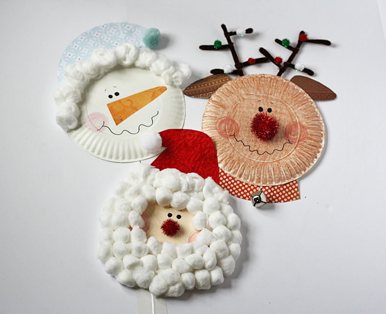 Creative Ideas - DIY Paper Plate Christmas Characters