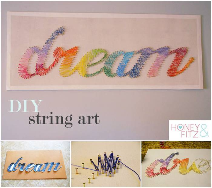 Creative Ideas – DIY Stunning String Art