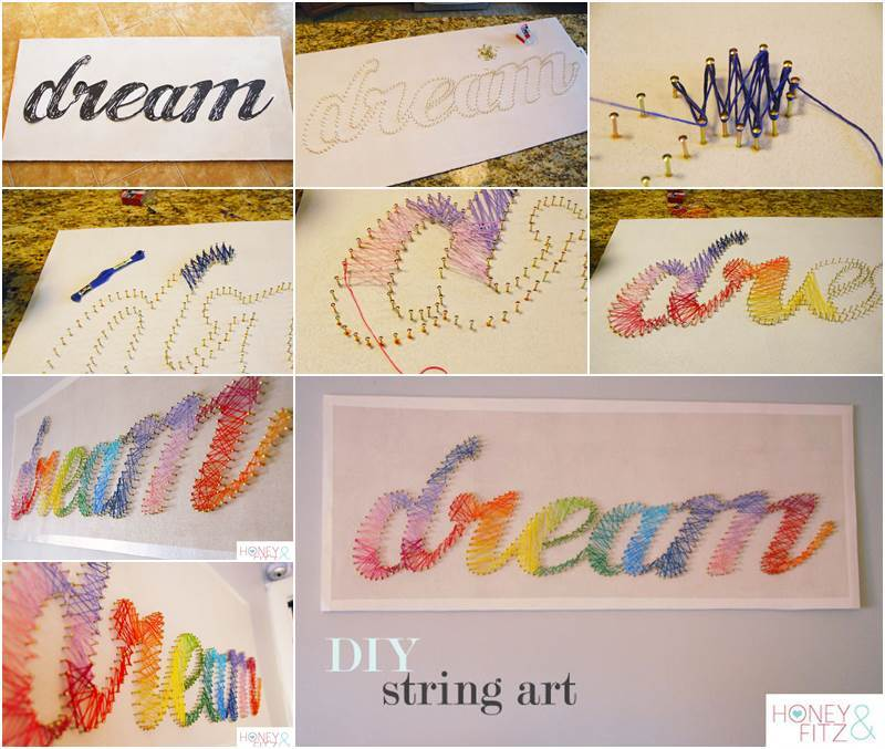 Creative Ideas - DIY Stunning String Art  iCreativeIdeas.com