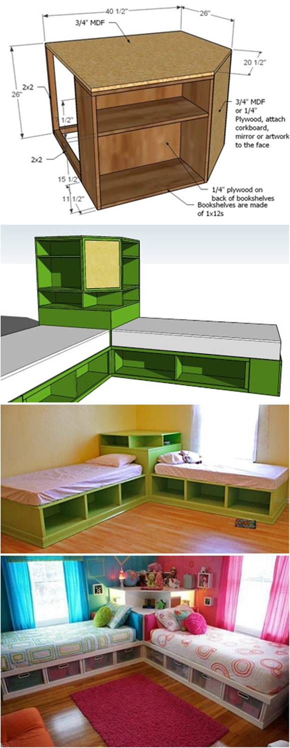 Kids Furniture Bedroom Diy Projects
