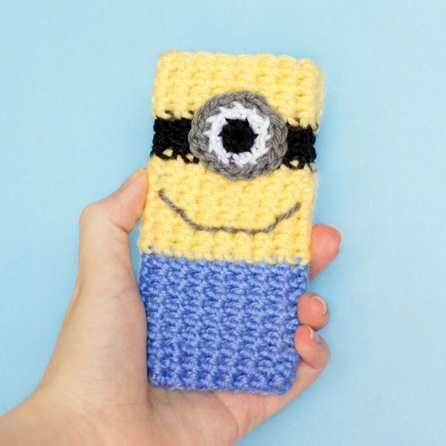 30 Stylish DIY Crochet Phone Cases --> Minion Inspired Phone Case Crochet Pattern