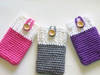 30 Stylish DIY Crochet Phone Cases --> Crochet Mobile Phone Cozy or Case