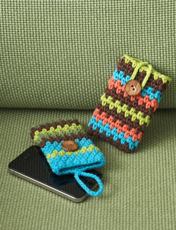 30 Stylish DIY Crochet Phone Cases --> Crochet Mobile Phone Covers