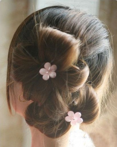 Creative Ideas - DIY Chic Flower Petal Updo Hairstyle 8