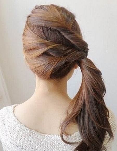Enjoyable Creative Ideas Diy Easy Twisted Side Ponytail Hairstyle Short Hairstyles Gunalazisus