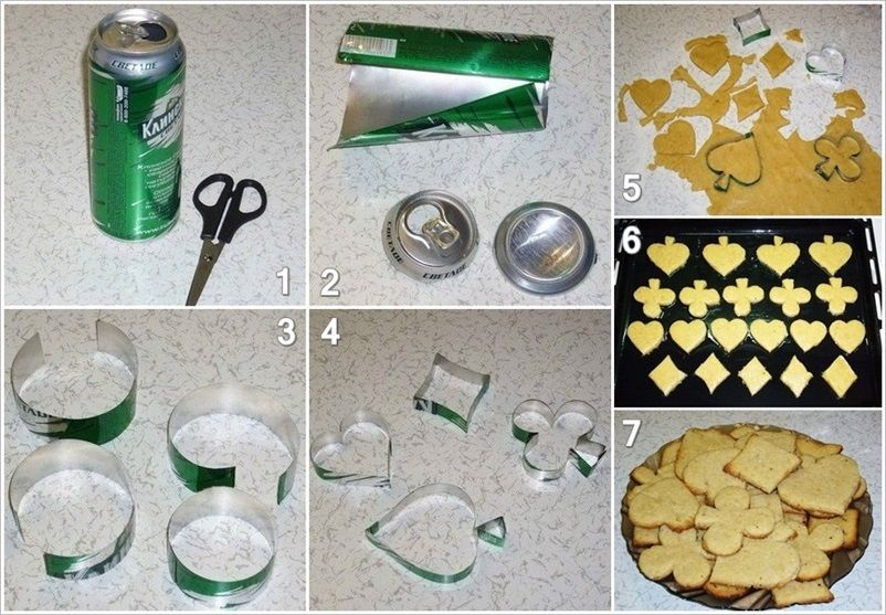 Creative Ideas - DIY Personalized Cookie Cutters from Soda Cans