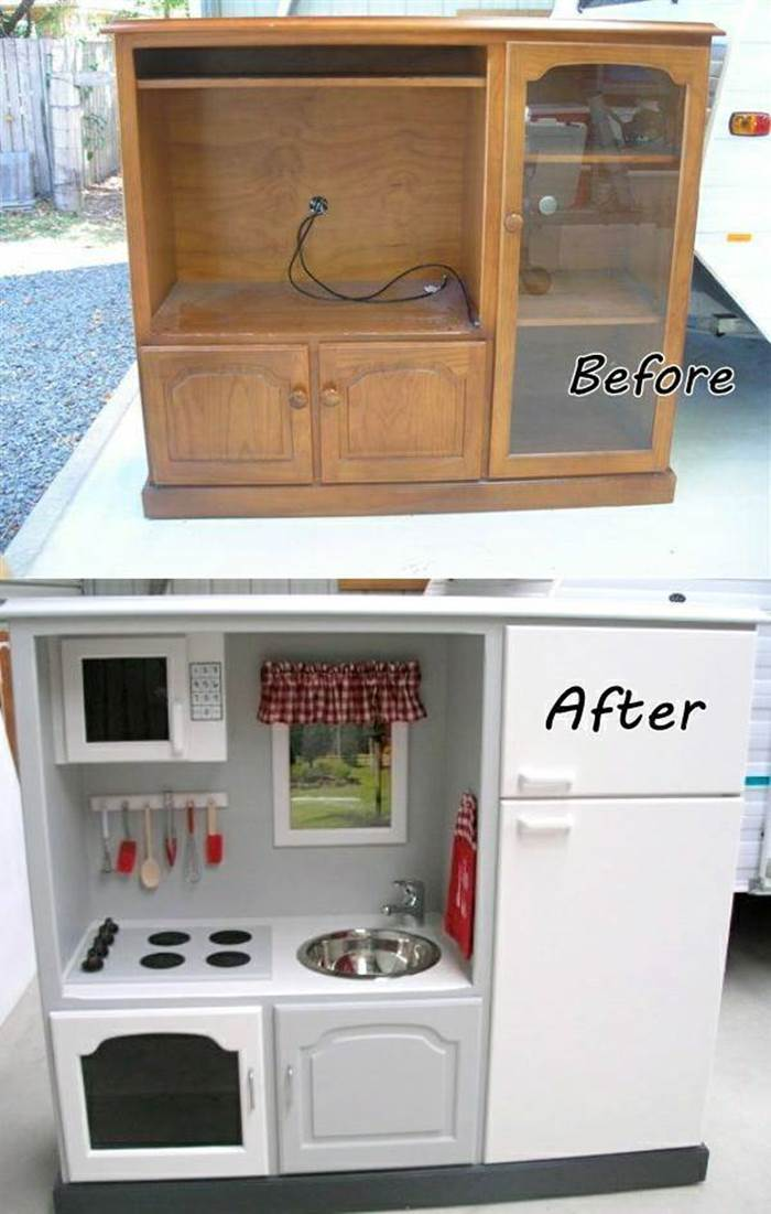 20 creative ideas and diy projects to repurpose old furniture - Kitchen diy ideas ...