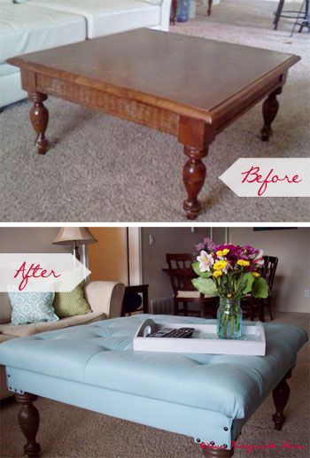 20 creative ideas and diy projects to repurpose old furniture - Creative diy ottoman ideas ...
