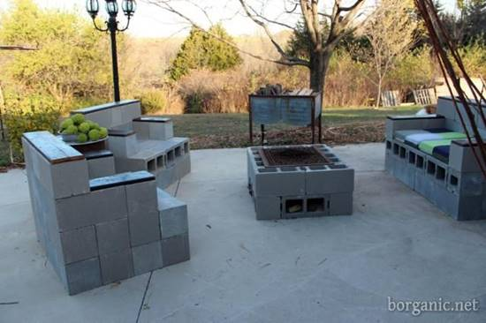 20+ Creative Uses of Concrete Blocks in Your Home and Garden --> Concrete Block Patio Furniture