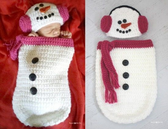 Christmas Baby Cocoon Crochet Pattern : 35+ Adorable Crochet and Knitted Baby Cocoon Patterns ...