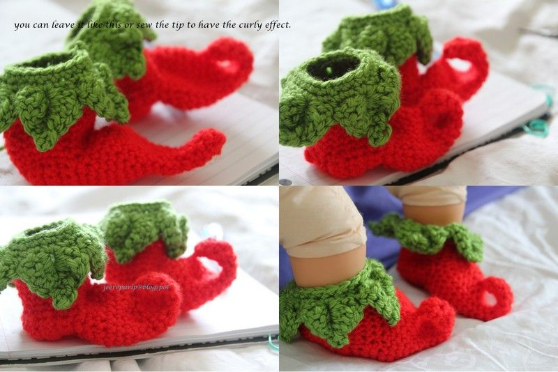 40+ Adorable and FREE Crochet Baby Booties Patterns --> Chili/Elf Crochet Baby Shoes