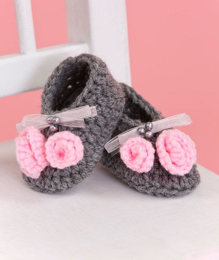 40+ Adorable and FREE Crochet Baby Booties Patterns --> Little Miss Booties