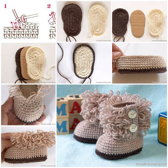 40+ Adorable and FREE Crochet Baby Booties Patterns --> UGG Style Crochet Baby Booties