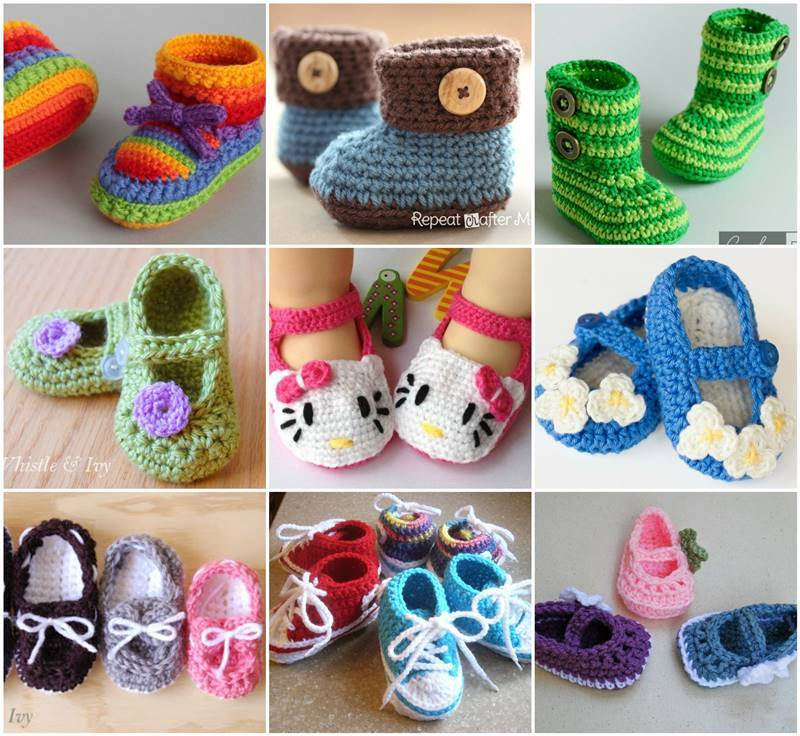 Free Crochet Pattern Baby Gifts : 40+ Adorable and FREE Crochet Baby Booties Patterns