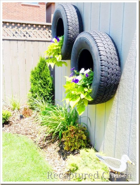 40+ Creative DIY Garden Containers and Planters from Recycled Materials --> Tire Planters