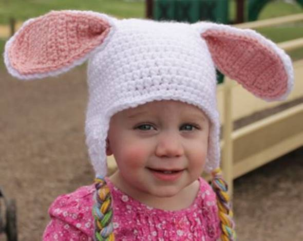Adorable Crochet Bunny Hat FREE Pattern