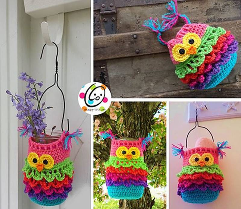 Creative Ideas Diy Bonbon The Owl Crochet Container With