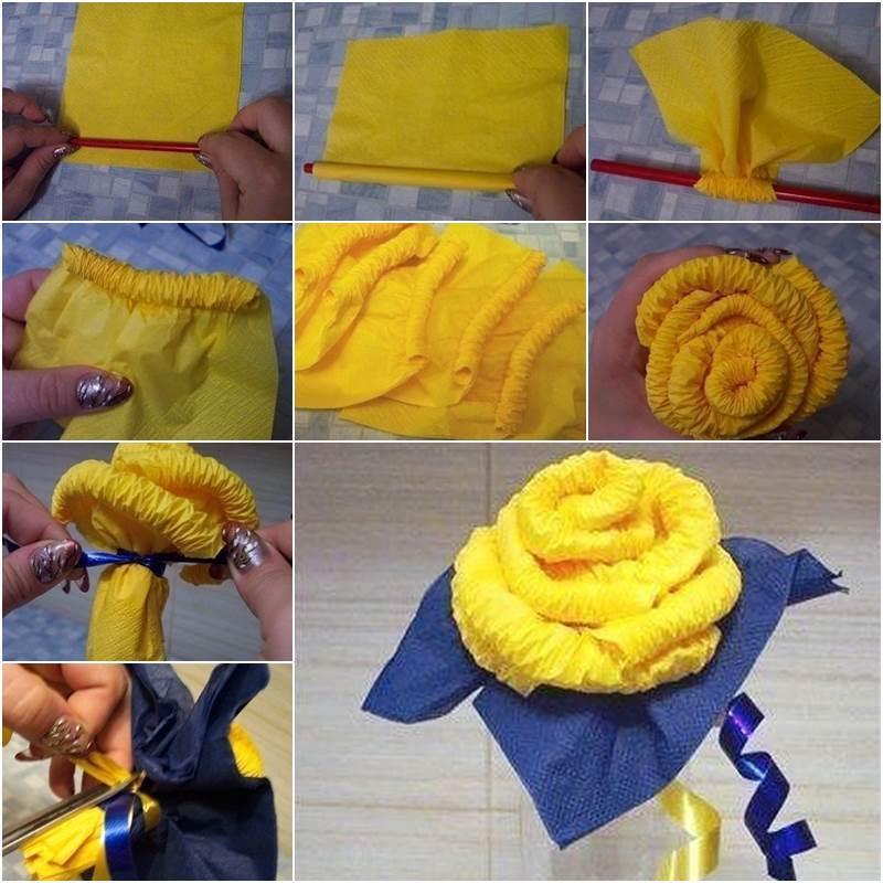 Creative Ideas - DIY Easy Napkin Paper Rose